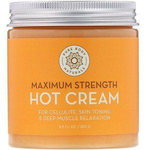 كريم لتفتيج البشرة واماكن احتكاك الجلد من اي هيرب Iherb الكريم الساخن Hot Cream من اي هيرب Pure Body Natur Pure Products Skin Cream Spearmint Essential Oil