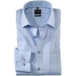 Olymp Luxor Hemd, modern fit, Global Kent, Bleu, 40 Olympolymp