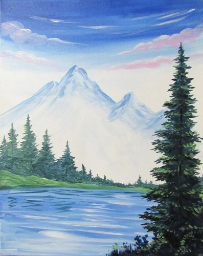 40 Acrylic Painting Ideas For Beginners Landscape Paintings Acrylic Beginner Painting Easy Canvas Painting