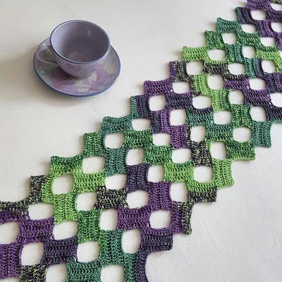 Rettangolini Bufanda - patrón de crochet libre por punto y así ...