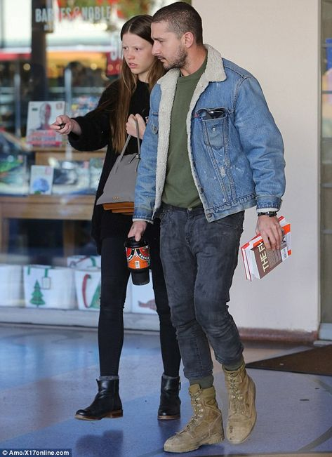 Book worm: Shia LaBeouf and his girlfriend Mia Goth were spotted leaving a Los Angeles bra.