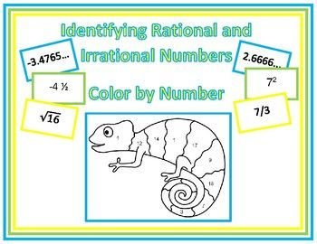 Rational or Irrational? - Color by Number | Math | Color