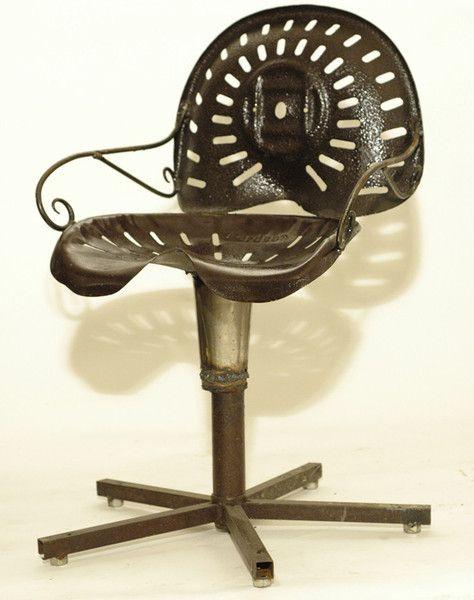 Miraculous Aldean Black Industrial Design Metal Tractor Adjustable Ncnpc Chair Design For Home Ncnpcorg