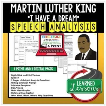 Martin Luther King I Have A Dream Speech Analysi Writing Digital Google In 2020 Persuasive Essay