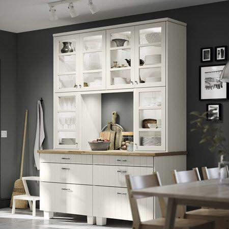 Ikea Section Kitchen Hittarp Glass Doors Doors Glass Hittarp Ikea Kitchen S Doors Glass In 2020 Kitchen Inspiration Design Ikea Kitchen Kitchen Cabinetry