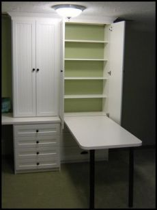 Get Craft Area Storage From California Closets This Would Be Genius For The  Craft Closet! Hide Away Table  There When You Need It, Gone When You Donu0027t,  ...