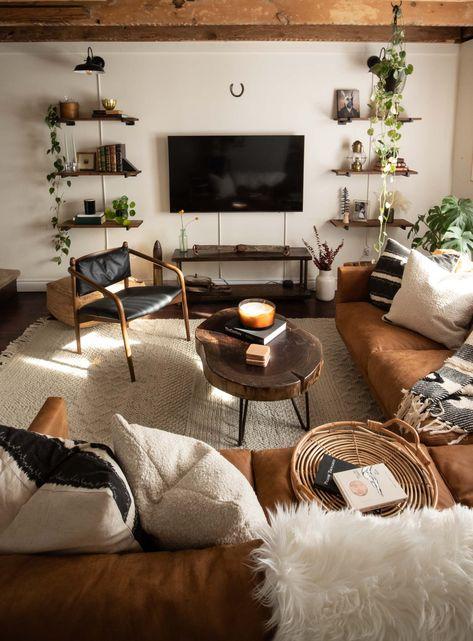Cozy Modern Farmhouse Living Room 😍