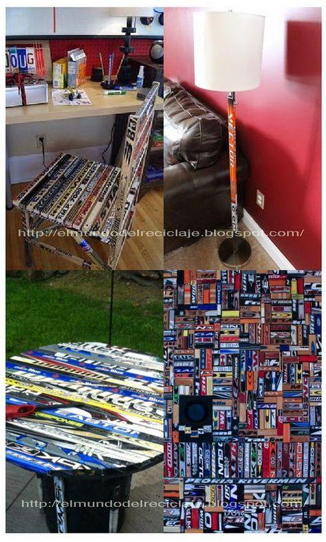 EL MUNDO DEL RECICLAJE: Recicla palos de hockey