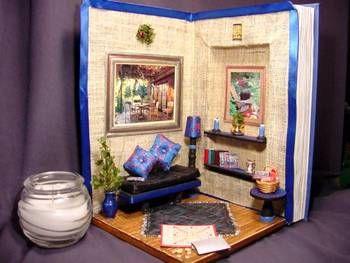 diorama made in a book