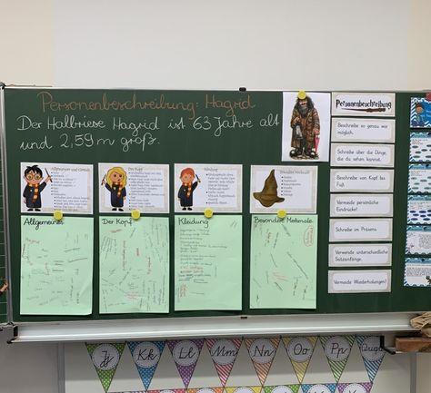 Harry Potter Colorful Classroom Harry Potter Klassenzimmer Kinder Lesen Personenbeschreibung