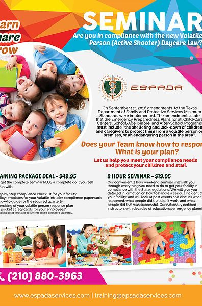 Esp Daycare Flyer Rev  Graphic Design