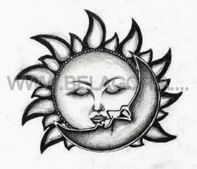Plantillas Para Tatuajes Sol Y Luna Tatuaje Sol Y Luna Disenos De Tatuaje De Luna Tatuajes De Luna