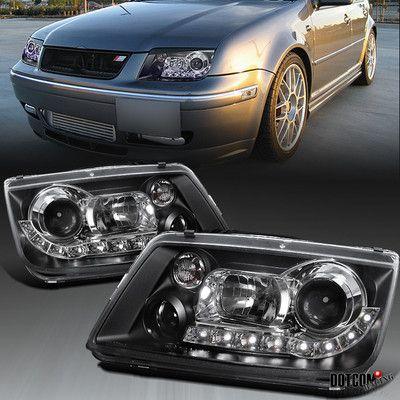 1999 2004 Vw Jetta Mk4 Black Projector Headlights Audi R8 Led