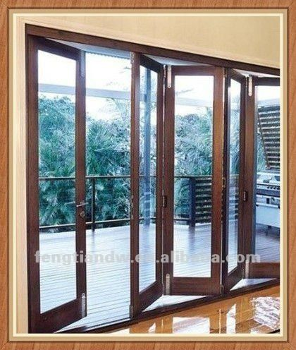 1 Aluminum Folding Sliding Door 2 Double Tempered Glass 3 Bi Folding Door 4 Good Quality Hardware Puertas Acordeon Puerta Vidrio Templado Puertas De Vidrio