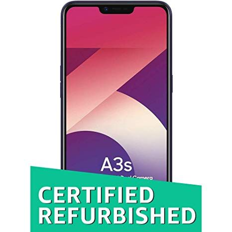 CERTIFIED REFURBISHED) OPPO A3s (Dark Purple, 3GB RAM, 32GB) with