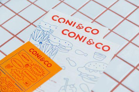 Wir lieben Coni & Co's Simplistic und Bold Branding & Takeout Packaging   Flur ....#bold #branding #coni #cos #flur #lieben #packaging #simplistic #takeout #und #wir