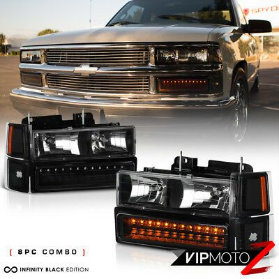 1994 1998 Chevy K1500 K2500 Suburban Tahoe Red Led Brake Tail Lamp Drl Headlight In 2020 Chevy Silverado Chevy Silverado Parts Chevy