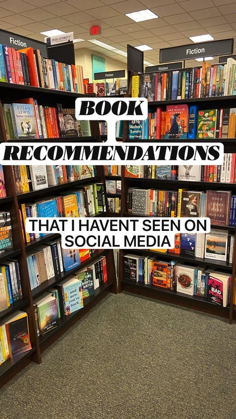 BOOK RECOMMENDATIONS I HAVEN'T SEEN ON SOCIAL MEDIA
