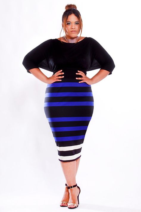 JIBRI Plus Size High Waist Pencil Skirt by jibrionline on Etsy, $120.00