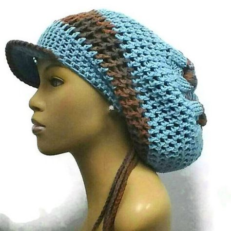 ee29f6a3827 PATTERN ONLY Instant Download The Knotted Slouch hat Knit and Crochet  Dreadlock hat brim and drawstr
