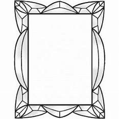 Image Result For Stained Glass Pattern Border Espejos Arte En Vidrio Espejos Para Banos