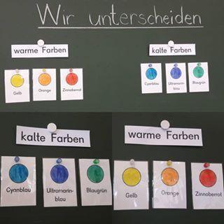 Kalte Und Warme Farben Farbtheorie In Der Grundschule Mit Dem