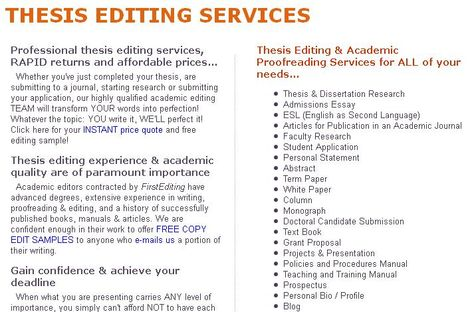 thesis proofreading services