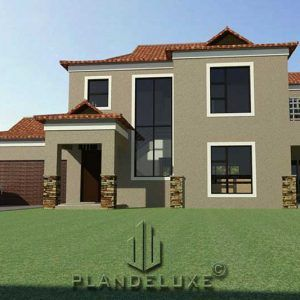 Double Story 3 Bedroom Building Plan Small House Plans Plandeluxe House Plans Bedroom House Plans House Roof Design