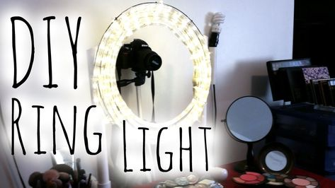 ♥ DIY EASY & CHEAP Diva Ring Light | Step by Step Tutorial ♥ Makeup Mira...
