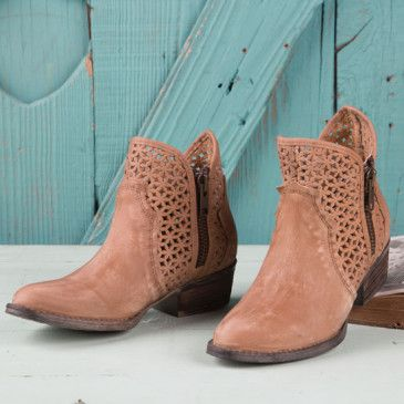 0f54e0c1fc1 Circle G Tan Cut Out Bootie | A Break from Boots | Rods western wear ...