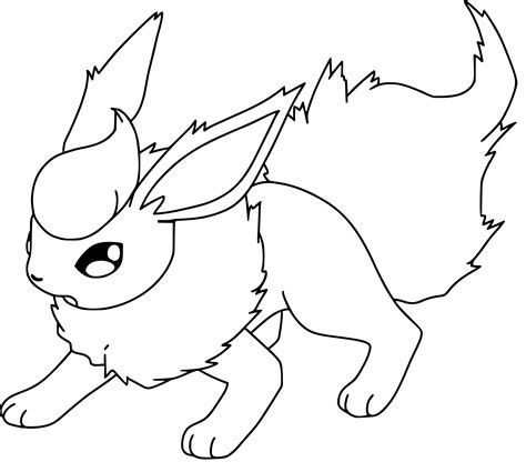 Pokemon Coloring Pages Flareon Pics