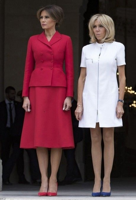 Pin By Magda Kruk On 6 2 Outfit P 2 Trump Fashion Milania Trump Style Red Skirts