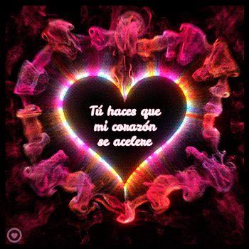 imagen de corazón con movimiento y frase de amor