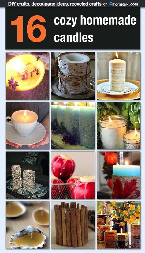 16 Cozy Homemade Candles