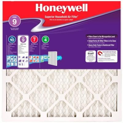 Honeywell 16 In X 25 In X 1 In Superior Allergen Pleated Fpr 9 Replacement Air Filter Air Filter Filters Furnace Filters