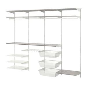 Boaxel 4 Secciones Blanco Gris Ikea Barra De Armario Perchas Para Pantalones Almacen Ikea