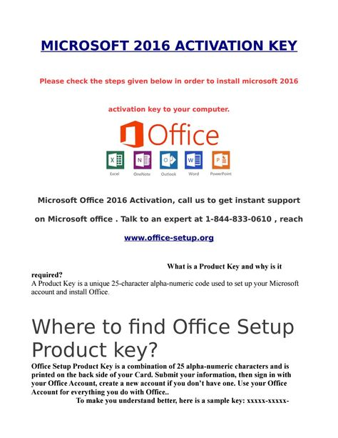 Microsoft 2016 activation key   microsoft professional plus