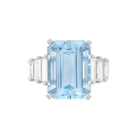 Platinum Aquamarine And Diamond Ring Tiffany Co For Sale At Auction On Tue 10 21 2014 07 00 Brighton Jewelry Valuable Jewelry Fine Jewellery Earrings