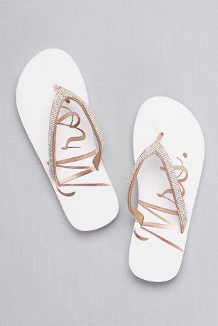 e22449d691fc4 Glitter Mrs Flip Flops | David's Bridal | I do :) | Bridal flip ...