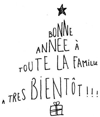 Carte de voeux Sapin de Noël Calligramme