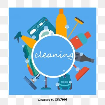 English Vector And Cleaning Materials English Cleaning Supplies