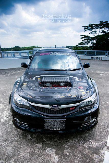 Black Sti Engine Bay In 2020 Subaru Impreza Sti Sti Subaru Impreza