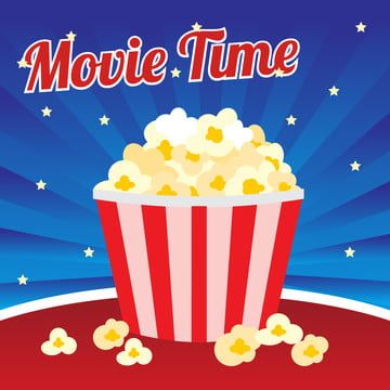 Popcorn Movie Time Poster Media Box Png And Vector With Transparent Background For Free Download About Time Movie Film Background Time Icon
