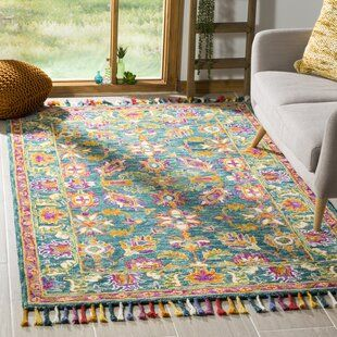 Ebern Designs Jacobs Floral Blue Green Red Area Rug In 2021 Purple Area Rugs Floral Area Rugs Area Rugs
