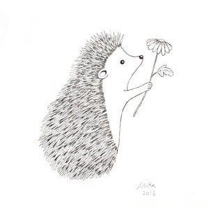 Lamb Print Nursery Decor Cute Lamb Drawing Print Farm Animal Etsy In 2021 Hedgehog Illustration Hedgehog Drawing Hedgehog Art