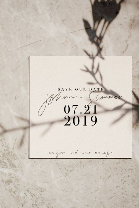 Modern save the dates Hand lettered save the dates | Etsy