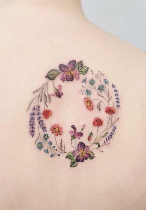 Lena Fedchenko flower tattoo - #Fedchenko #Flower #Lena #tattoo