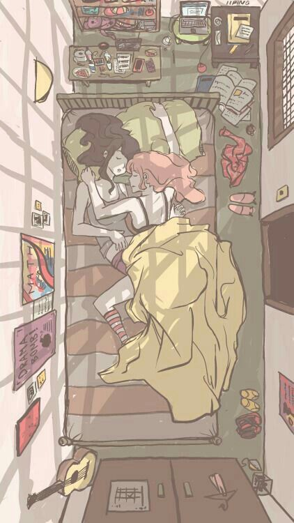 Princess Bubblegum and Marceline Sleepover PB Cute Lesbian Couples, Lesbian Art, Adventure Time Marceline, Adventure Time Anime, Adventure Time Girls, Gay Aesthetic, Aesthetic Anime, Body Baby, Princesse Chewing-gum