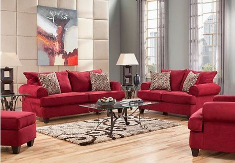 Red Living Room Set, Red Living Room Furniture