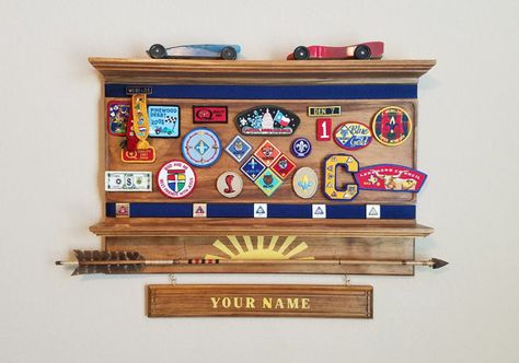 Adorn these shelves with the wonderful Cub Scouting memories that your child has received over his years of scouting fun. There are two shelves included and both are ready to hang together or separately. The Activity shelf provides a place for unit, rank, and activity patches and two